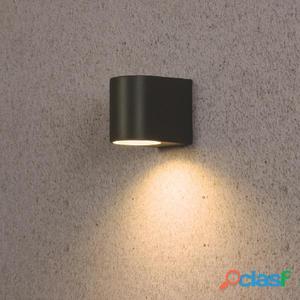 SMARTWARES Lámpara de pared LED 3 W gris 5000.332