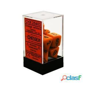 Set de 7 dados chessex opacos rojo y negro