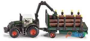 Siku Tractor Con Remolque Forestal 167 gr