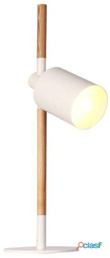 Superstudio Lámpara de sobremesa lang blanco y madera 10 kg