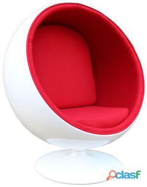 Superstudio Silla ball bol rojo y blanco inspiración ball