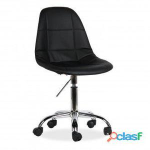 Superstudio Silla de oficina tower -tapizada polipiel negra