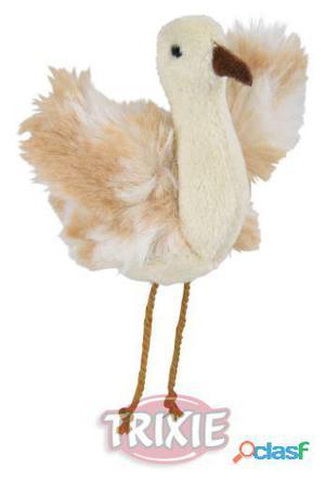 Trixie Avestruz con Catnip y sonido, Peluche, 5.5 cm