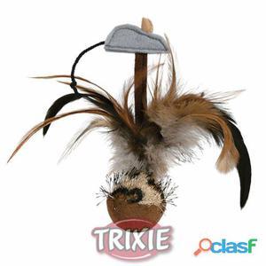 Trixie Bola Con Pluma Y Sonido, 15 Cm.