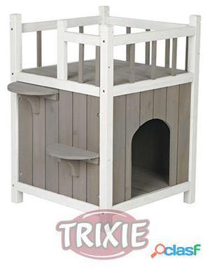 Trixie Caseta Gatos Con Balcón Gris-Blanco 45x65x45 cm