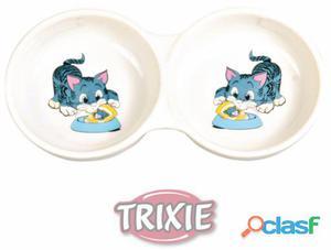 Trixie Comedero Cerámico Doble Impreso 11 cm