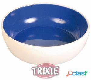 Trixie Comedero Cerámico Gatos, 0.3 L/ø 12 Cm Azul/Crema