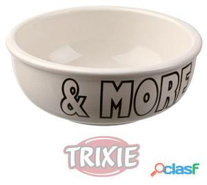 Trixie Comedero Cerámico Milk & More, 0.4 L, Ø 13 Cm