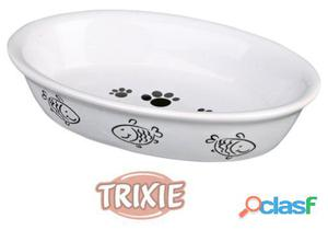 Trixie Comedero Gato, Ovalado, Cerámico, 0.2 L/15 x 10 Cm