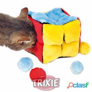 Trixie Cubo Peluche Con Pelotas Catnip 14x14x14 cm