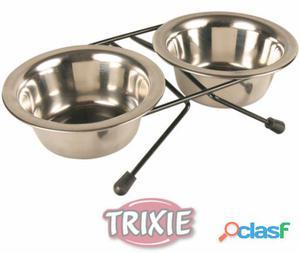 Trixie Set Comederos Acero Inoxidable 20 cm