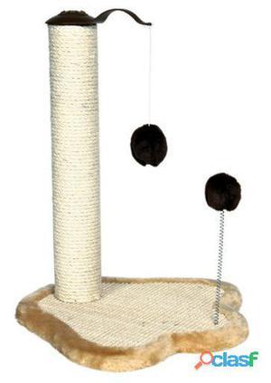 Trixie Tabla Rascadora Huella C/poste, 50 Cm, Bg./marrón