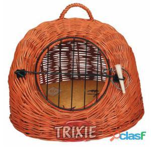 Trixie Transportín Mimbre Gatos/perro Peq., Ø 45 Cm