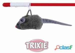 Trixie Vara Juego con ratón Microchip y sonido Fuerte 47 cm