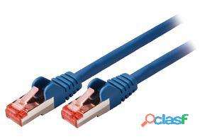 Valueline Cable de red macho a macho de 0.50 m azul 28 gr