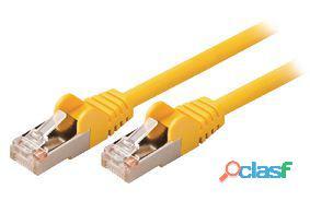 Valueline Cable de red macho a macho de 2.00 m amarillo 64
