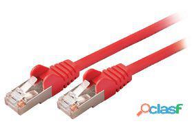 Valueline Cable de red macho a macho de 3.00 m rojo 85 gr
