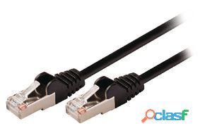 Valueline Cable de red macho a macho de 5.00 m negro 135 gr