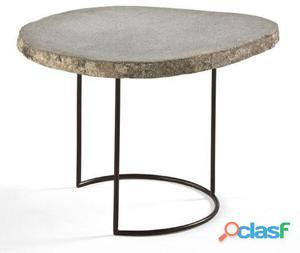 Wellindal Mesa Auxiliar Metal y Piedra Gris 17.9 kg