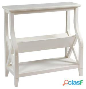 Wellindal Mueble Revistero color blanco Nogal