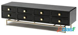Wellindal Mueble Tv 160x45x50 Metal Oro y Madera Negro 8
