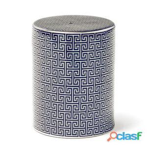 Wellindal Taburete Ceramica Azul y Plata 11.05 kg