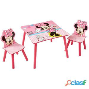 WorldsApart Disney Mesa con 2 sillas de Minnie Mouse