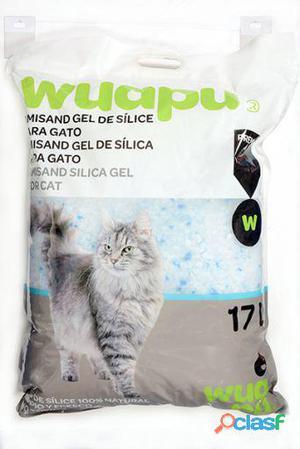 Wuapu Gel de Sílice para Gatos 17 l