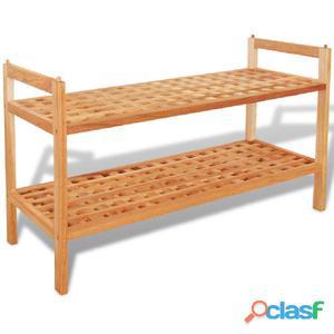 Zapatero 69x26x40 cm madera maciza de nogal