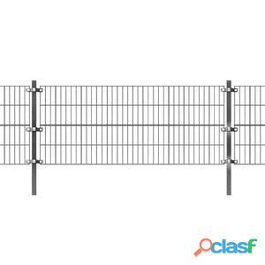 vidaxl Panel de valla con postes 6x0.8 m gris antracita