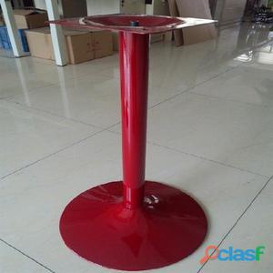 Base de mesa, pintada, metal, color rojo