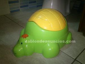 Orinal infantil con forma de tortuga – nuevo – sin