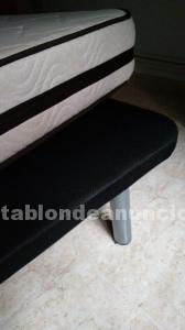 Vendo colchon visco y base tapizada