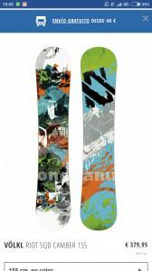 Venta de tabla de snowboard 155 nueva
