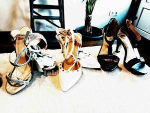 Sandalias de fiesta, vendo lote de 6 pares