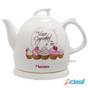 Bestron Hervidor de té cerámica blanco 1785 W DTP800SD