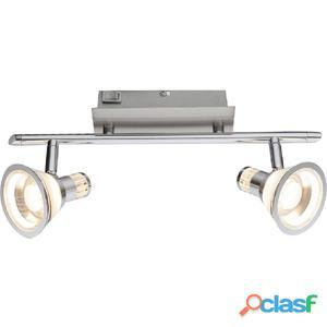 GLOBO Focos LED TAKIRO níquel y acrílico 56956-2