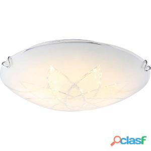 GLOBO Lámpara LED de techo JOY I vidrio blanco 4041464