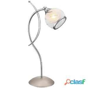 GLOBO Lámpara de mesa AILA cromo y níquel mate 56568-1T