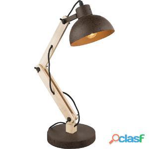 GLOBO Lámpara de mesa JEFF I madera y metal 21500