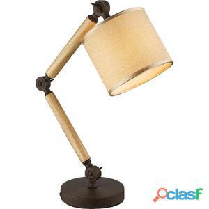 GLOBO Lámpara de mesa JEFF I madera y tela 21501