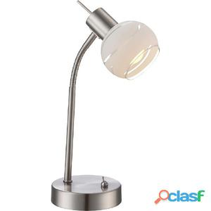 GLOBO Lámpara de mesa LED ELLIOTT níquel mate 54341-1T