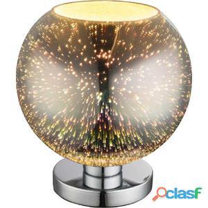 GLOBO Lámpara de mesa efecto 3D KOBY vidrio cromado 25x28cm