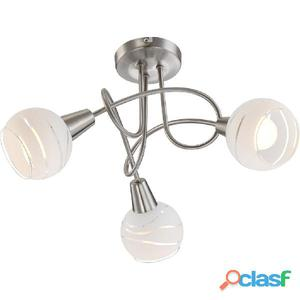 GLOBO Lámpara focal LED con 3 bombillas ELLIOTT níquel