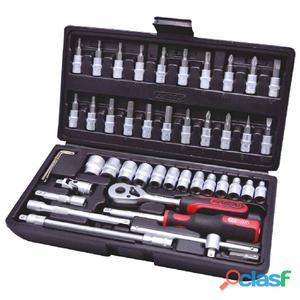 KS Tools CLASSIC Set de carraca, llaves vaso y puntas