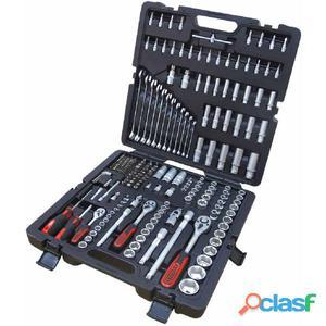 """KS Tools Llaves de vaso y puntas 216 piezas 1/4""""+3/8""""+1/2"""""""