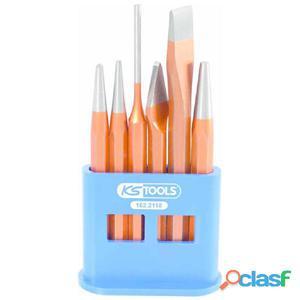KS Tools Set combinado de cinceles y punzones 6 piezas