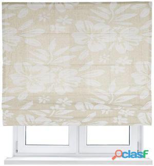 Kaaten Plegable Loneta Flores Blancas 75x175 cm