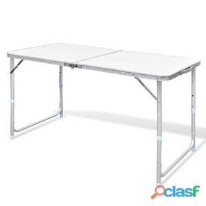 Mesita plegable de aluminio camping, 120 x 60 cm