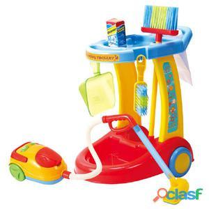 Playgo Mi carrito de limpieza con aspiradora 3465